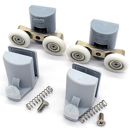8 x para mampara de ducha ganchos guías/rodillos/ruedas/corredores 25 mm
