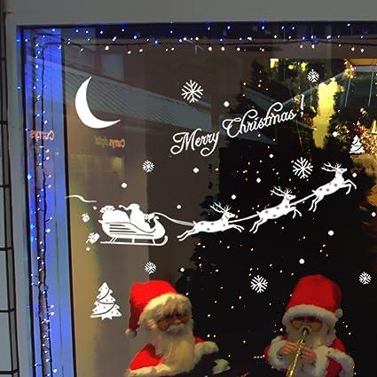 sandistore christmas decoration decal window stickers home decor a - Christmas Window Stickers