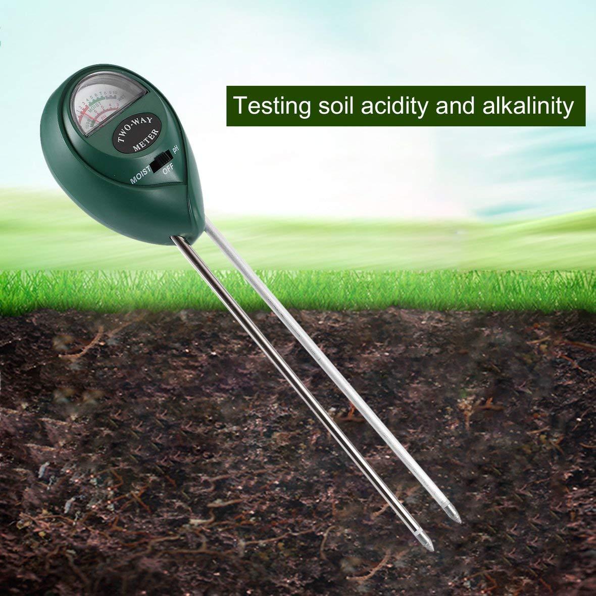Tivolii 2 in 1 Soil Moisture PH Meter Soil Hygrometer Durable Soil Tester Garden Moisture Soil PH Intensity Meter