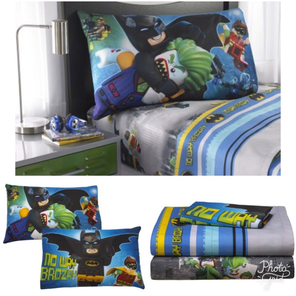 Batman Lego Kids Twin Bedding Sheet Set