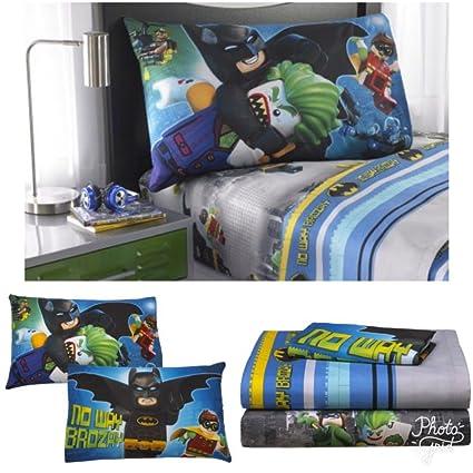Batman Lego Kids Twin Bedding Sheet Set