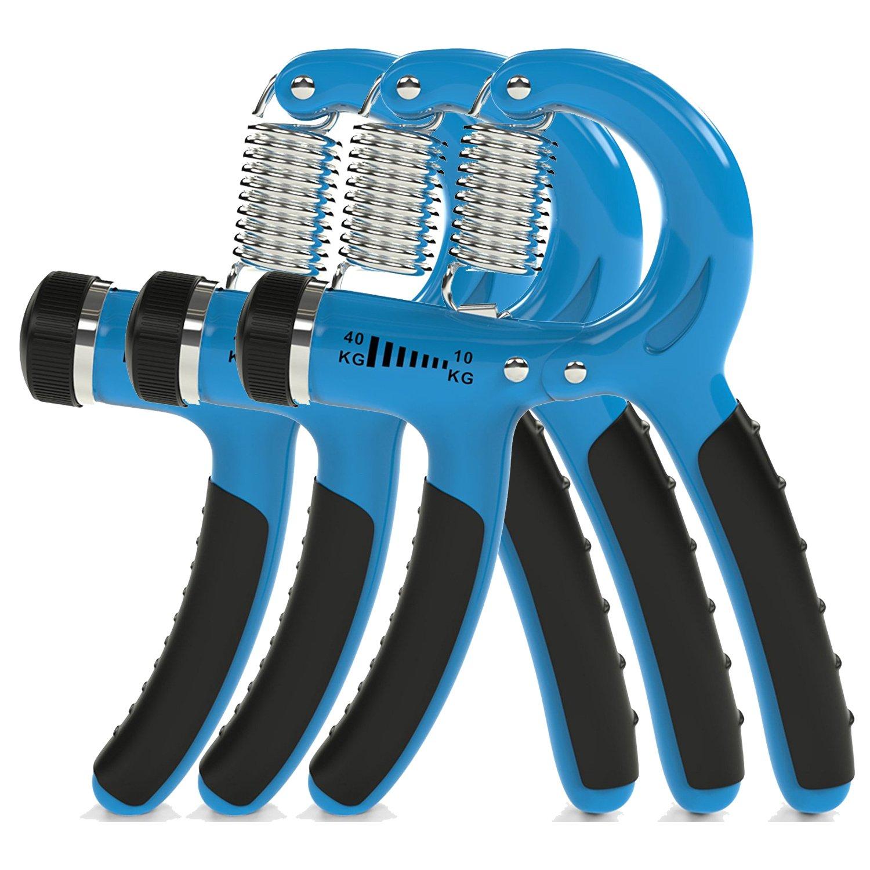 ThunderFit Adjustable Hand Grip Strengthener Blue Color 10-35Kg (3Pack)