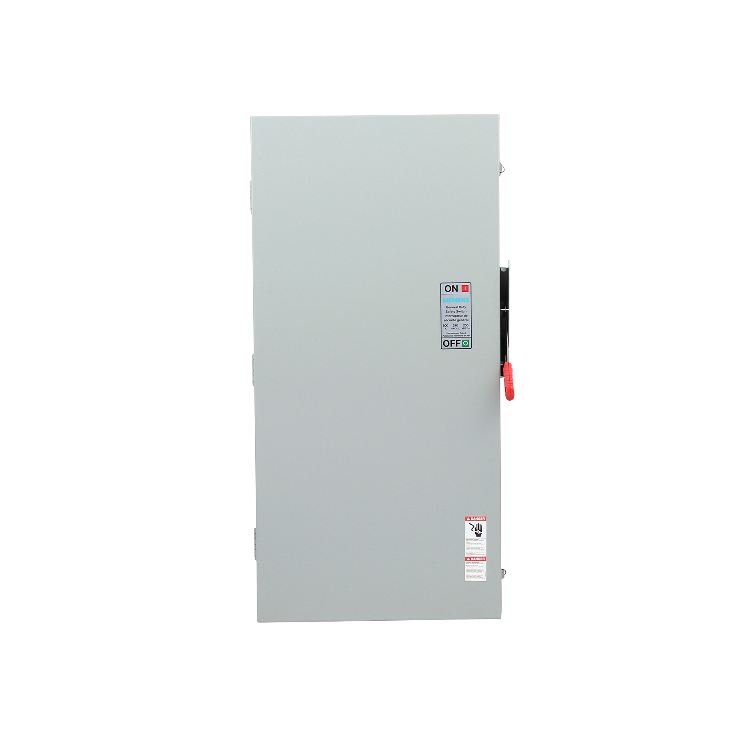 Siemens GF326NRA Fusible 3 Pole 240V 600 Amp Outdoor Rated General Duty Safety Switch