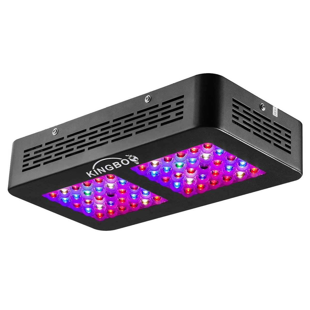 KINGBO 300W LED Grow Light Full Spectrum Double Switch LED Plant Light for Greenhouse Hydroponic Indoor Plants Veg and Bloom (12band)