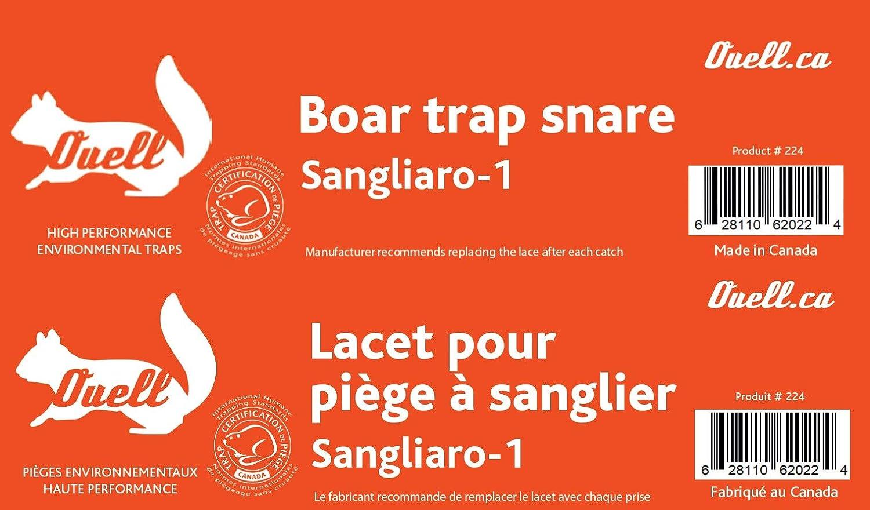 Lacet Colletto per trappola di cinghiale Ouell Sangliaro-1
