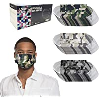 50 Pieces Adult Disposable Face Masks Single Use Effective, Soft on Skin, Bulk Pack 3-Ply Masks Facial Cover with…