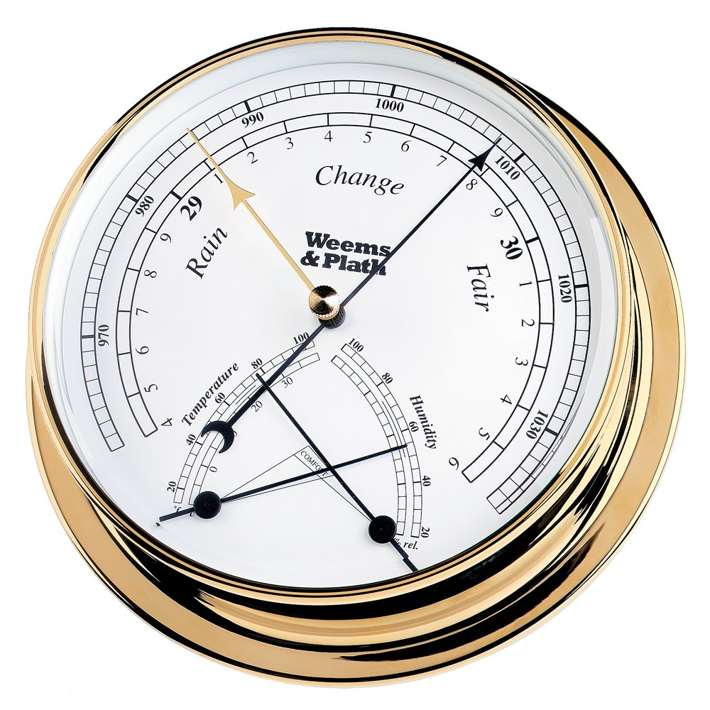 Weems & Plath Endurance Collection 145 Barometer and Comfortmeter Combination (Brass)