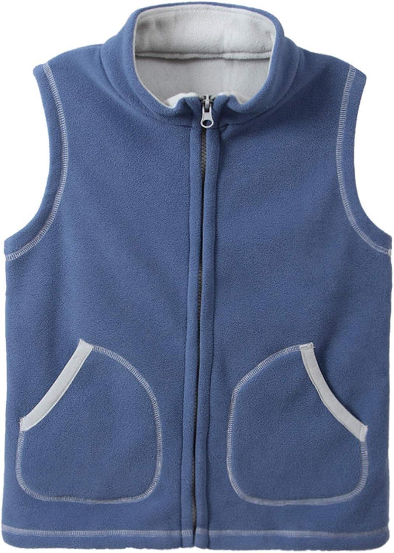 HILEELANG Boy Girl Polar Fleece Jacket Little Kids /& Toddler Hoodie Full-Zip Sweatshirt Outerwear Jacket Coat