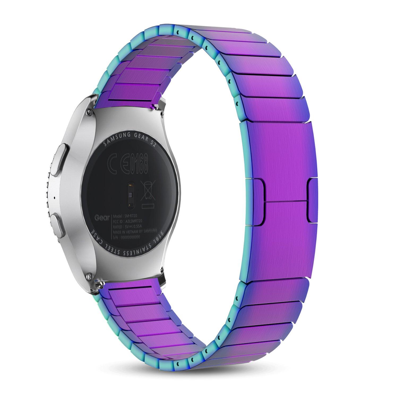 MoKo Samsungステンレススチール時計バンドストラップfor Samsung Gear s2 Classic。 7.65857E+11  カラフル B01J0RVLP6