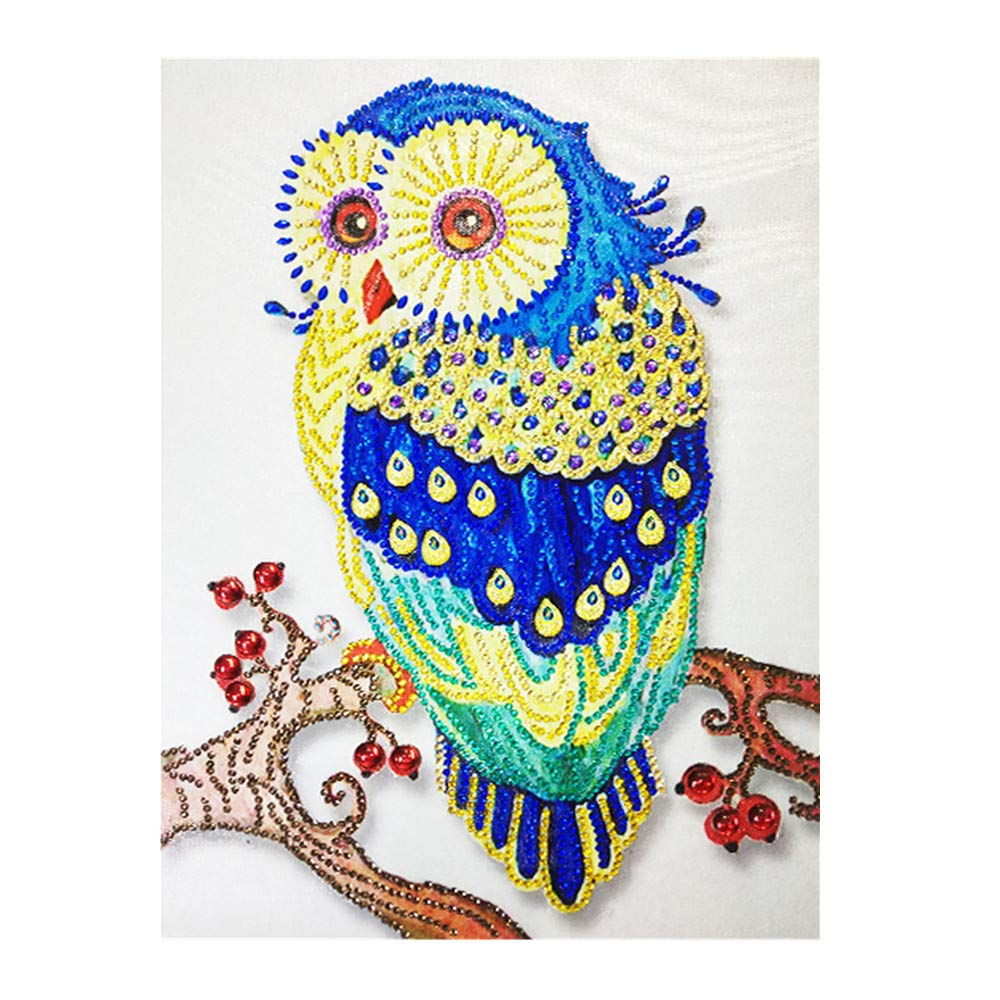 5D DIY Diamond Painting,Crystal Rhinestone Diamond Embroidery Paintings Pictures Arts Craft for Home Wall Decor,Colorful-Animal Series (A)