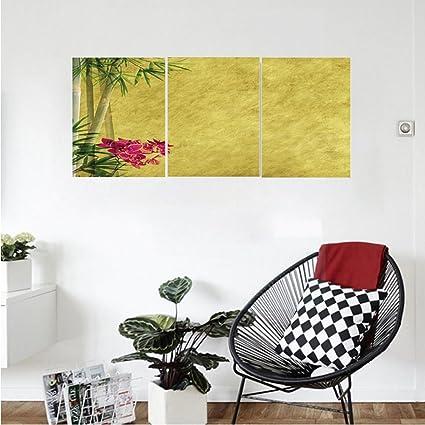 Amazon.com: Liguo88 Custom canvas Bamboo House Decor Collection Wild ...