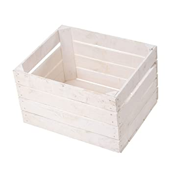 Obstkisten Online Juego de 20 Cajas de Manzanas Blancas/Caja de Fruta/Caja de Madera/Caja de pera/Caja de Vino: Amazon.es: Juguetes y juegos