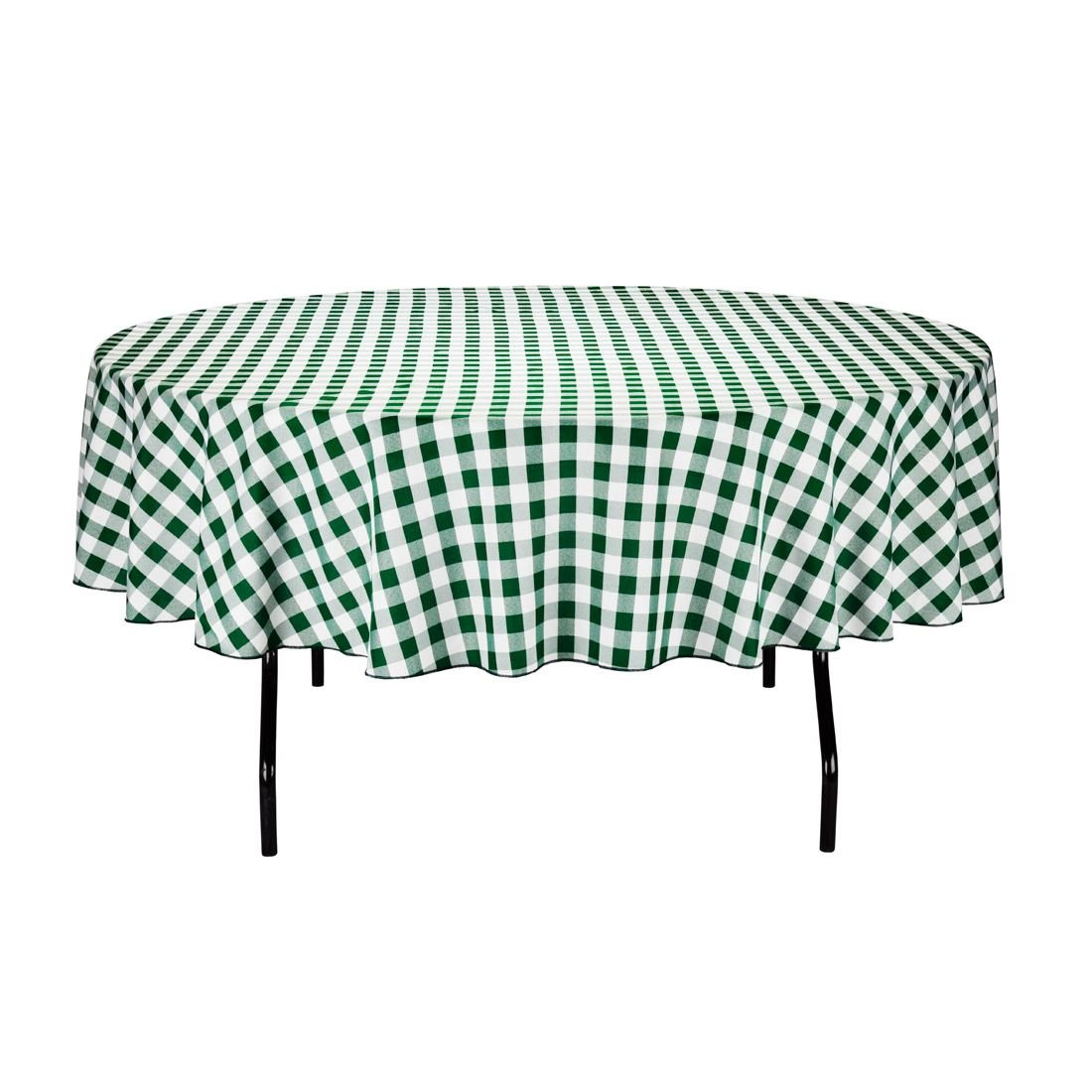 Amazon.com: LinenTablecloth 90-Inch Round Polyester Tablecloth Black ...
