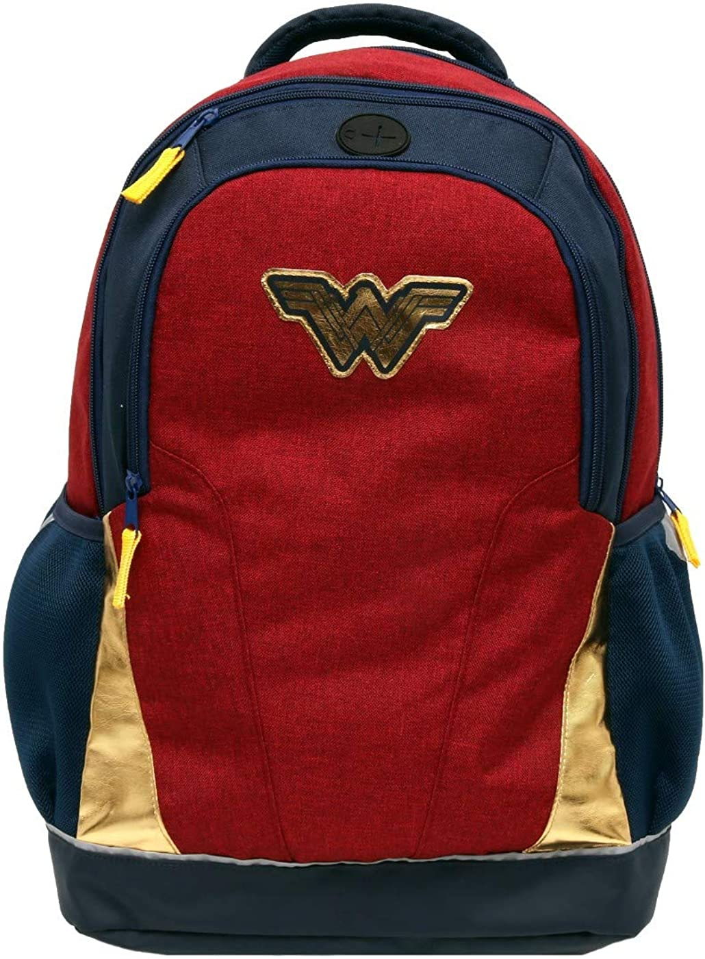"Wonder Woman Girls' 18"" Backpack,Red/Blue"