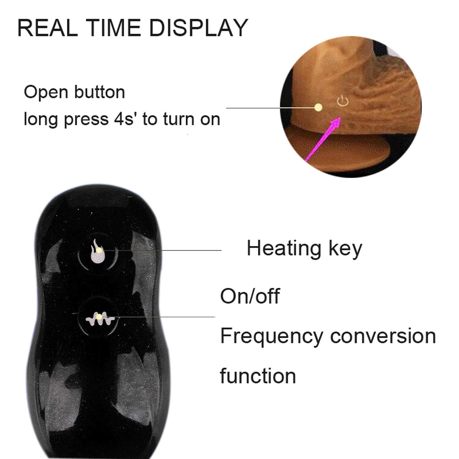 Wireless Remote Control Huge R-Ealistic Vibrator Male Artificial Heated D-Ick Toys for Woman Tshirt,B X 200Mm by Yamig (Image #5)