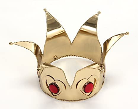 Mini Queen Of Hearts Costume Accessory Crown Adult Gold One Size