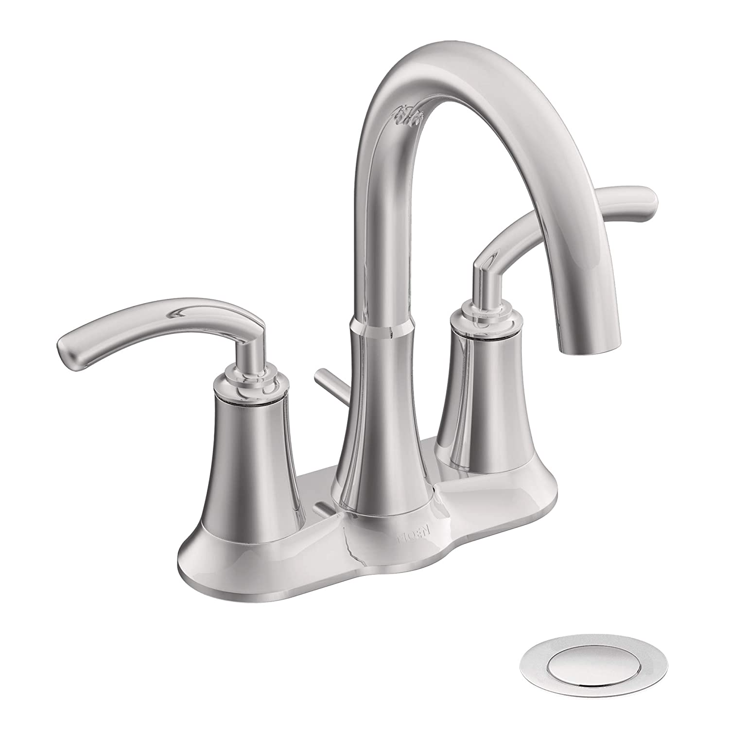 Moen S6510 Icon Two-Handle Lavatory Faucet with Drain Assembly, Chrome