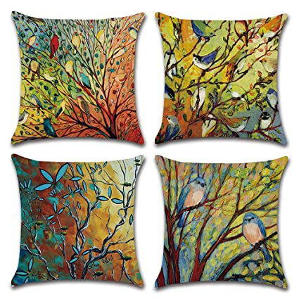 Retro Ocean Style Pattern Cushion Covers Decorative Sofa Pillow Case Modern Printed Cushion Covers Cotton Linen Home Textile The Latest Fashion Cushion Cover Home & Garden