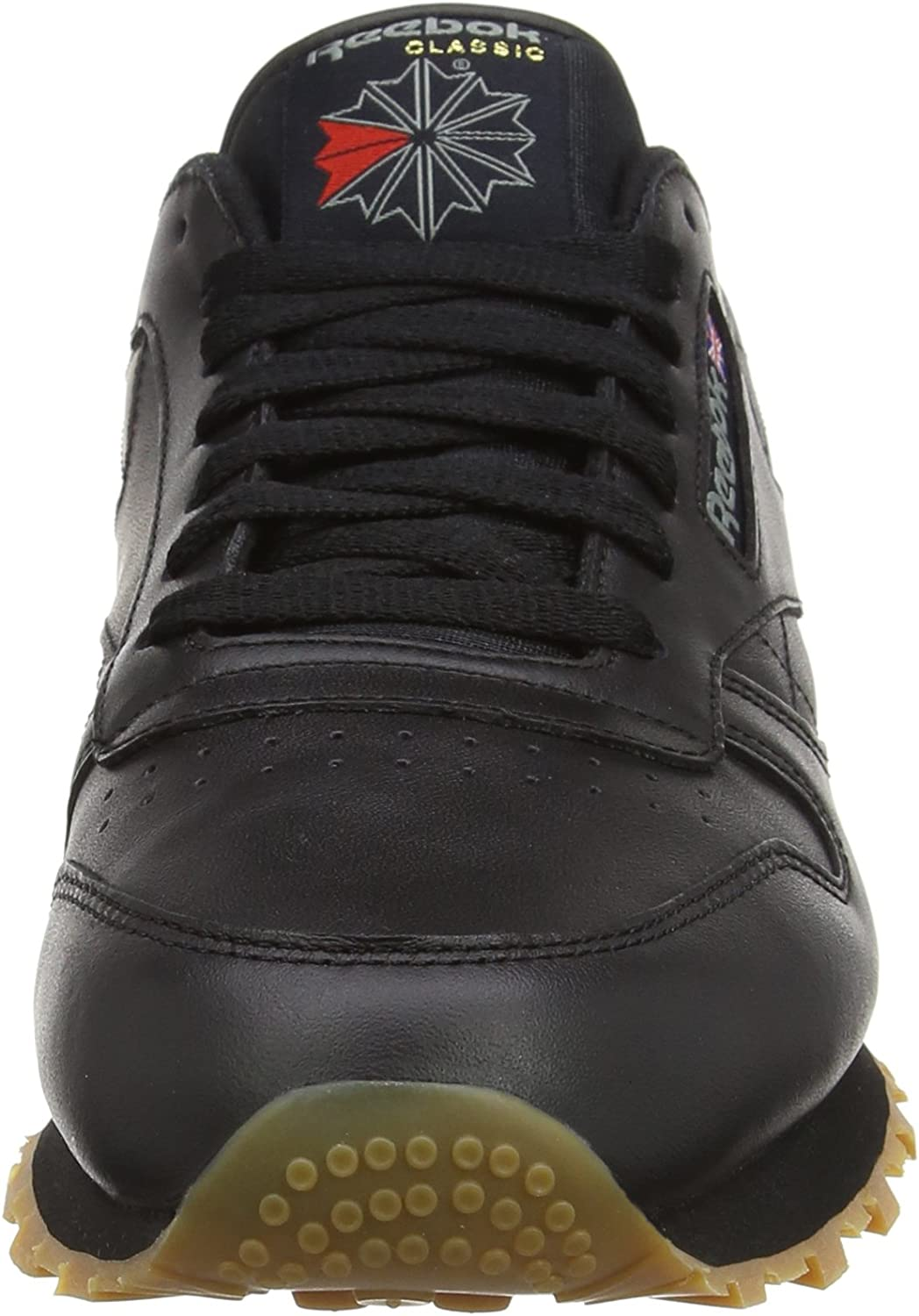Reebok Herren Cl Lthr Low-Top Schwarz Black Gum