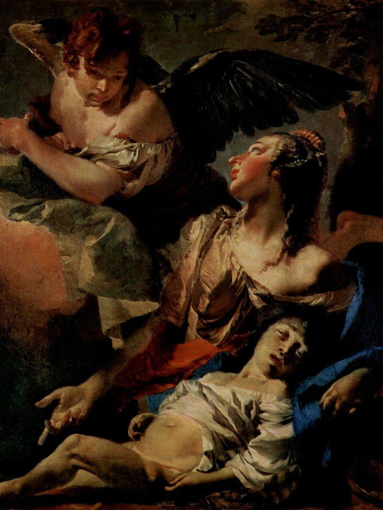 Lais Puzzle Giovanni Battista Tiepolo - Hagar und Ismael, Pendant zu »Abraham und die Engel« 2000 Teile