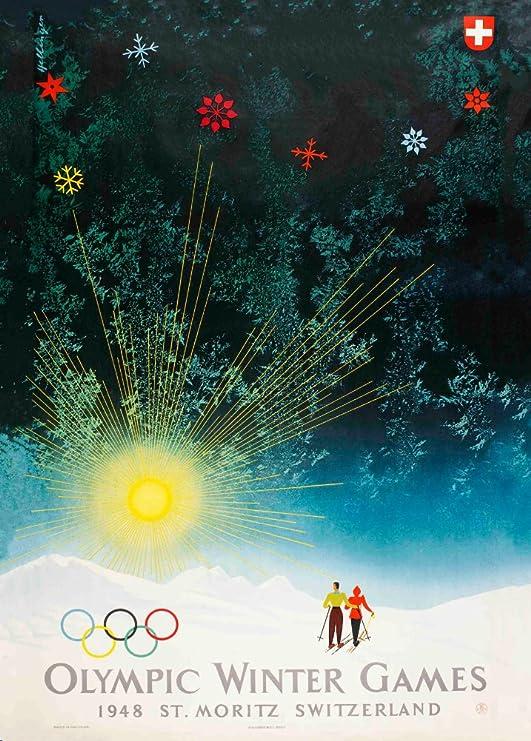 Vintage Juegos Olímpicos 1948 St. Moritz en Suiza Juegos de ...