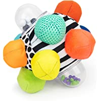 Sassy Developmental Bumpy Ball | Easy to Grasp Bumps Help Develop Motor Skills | for Ages 6 Months and Up | Colors May…