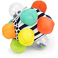 Sassy Developmental Bumpy Ball | High Contrast Colors and Patterns | Easy to Grasp Bumps Help Develop...