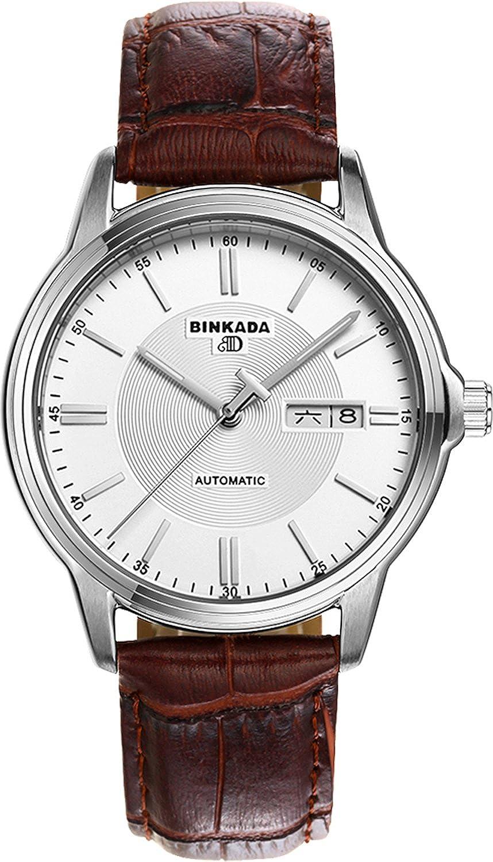 BINKADA 3ポインタ自動機械カフスホワイトダイヤルメンズ腕時計# 707202 – 1 B01DZL12PM