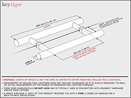 Size : A1 hole spacing is 300mm A Pair Of Stainless Steel Shower Room Handle Bathroom Bathroom Glass Door Handle Shower Door Handle