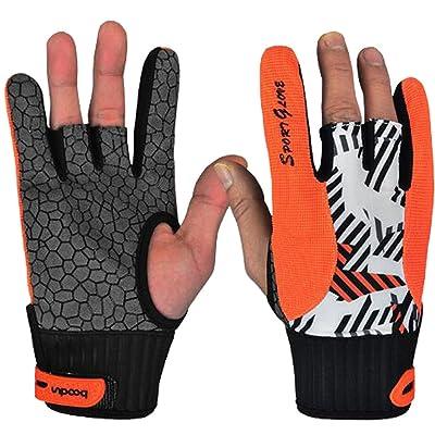 1paire de gants professionnels de bowling antidérapants Accessoires confortables avec doigts exposés