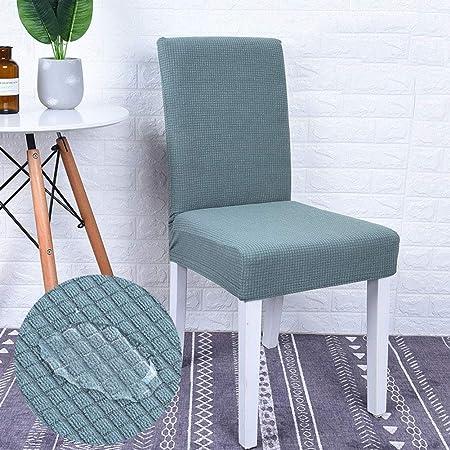 Monba - Funda protectora impermeable para silla de comedor, elástica, extraíble, lavable, para silla de comedor., poliéster, verde claro, Pack de 4: Amazon.es: Hogar