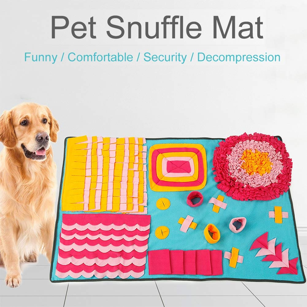 LONG-C Cat Dog Snuffle Mat Bite Resistant Environmentally Friendly Training Blanket for Consuming Strength Pet Sniffing Pad
