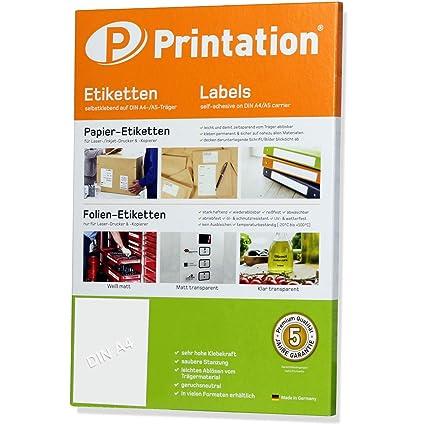Universal Etiketten 100 Stück 210 X 297 Mm Weiß Selbstklebend Bedruckbar 100 Din A4 Bogen à 1x1 210x297 Labels 3478 6119 4631