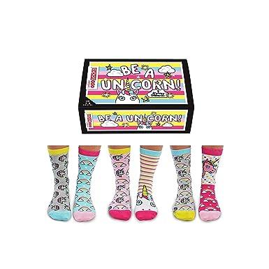 0c98c633651b4 United Oddsocks - Boîte de 6 dépareillées Chaussettes - Femmes Licorne  Chaussette- Be A Unicorn