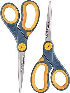 """Westcott 8"""" Straight Titanium Bonded Non Stick Scissors, 2 Pack (16550)"""