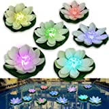LOGUIDE LED Lotus Frog Light Waterproof Battery Powered Firefly Trendy Hip Unique Color-Changing Flower Night Lamp Garden Hou