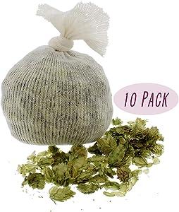 Muslin Cloth Steeping Bag – Reusable Mesh Strainer Bag – BIAB Grain Bag, Hops Bag, Brew Bag, Homebrew – Pack of 10