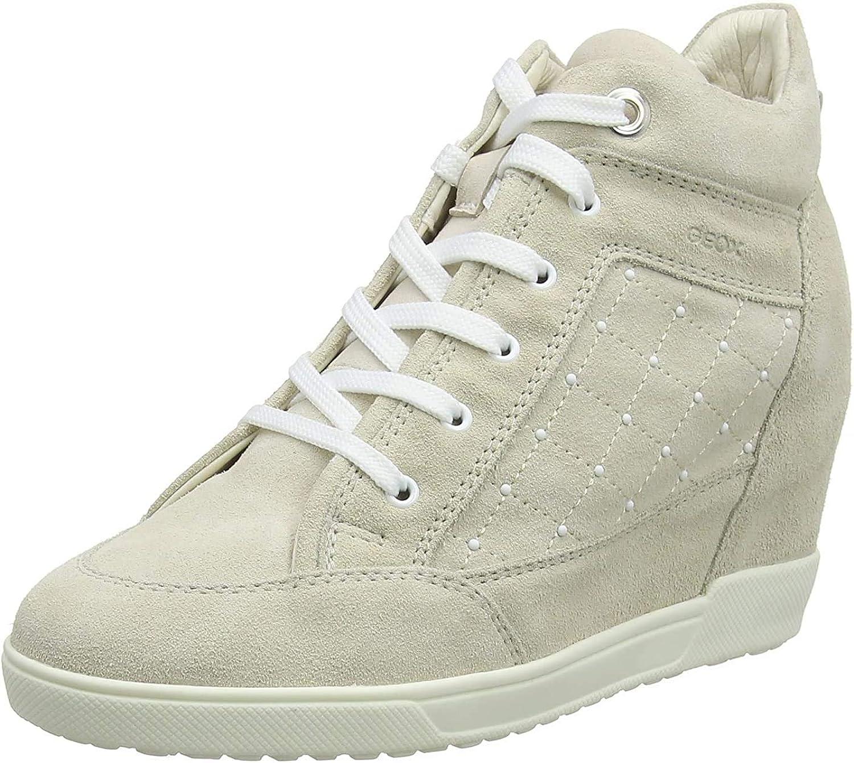 Geox D Carum C, Zapatillas Altas para Mujer
