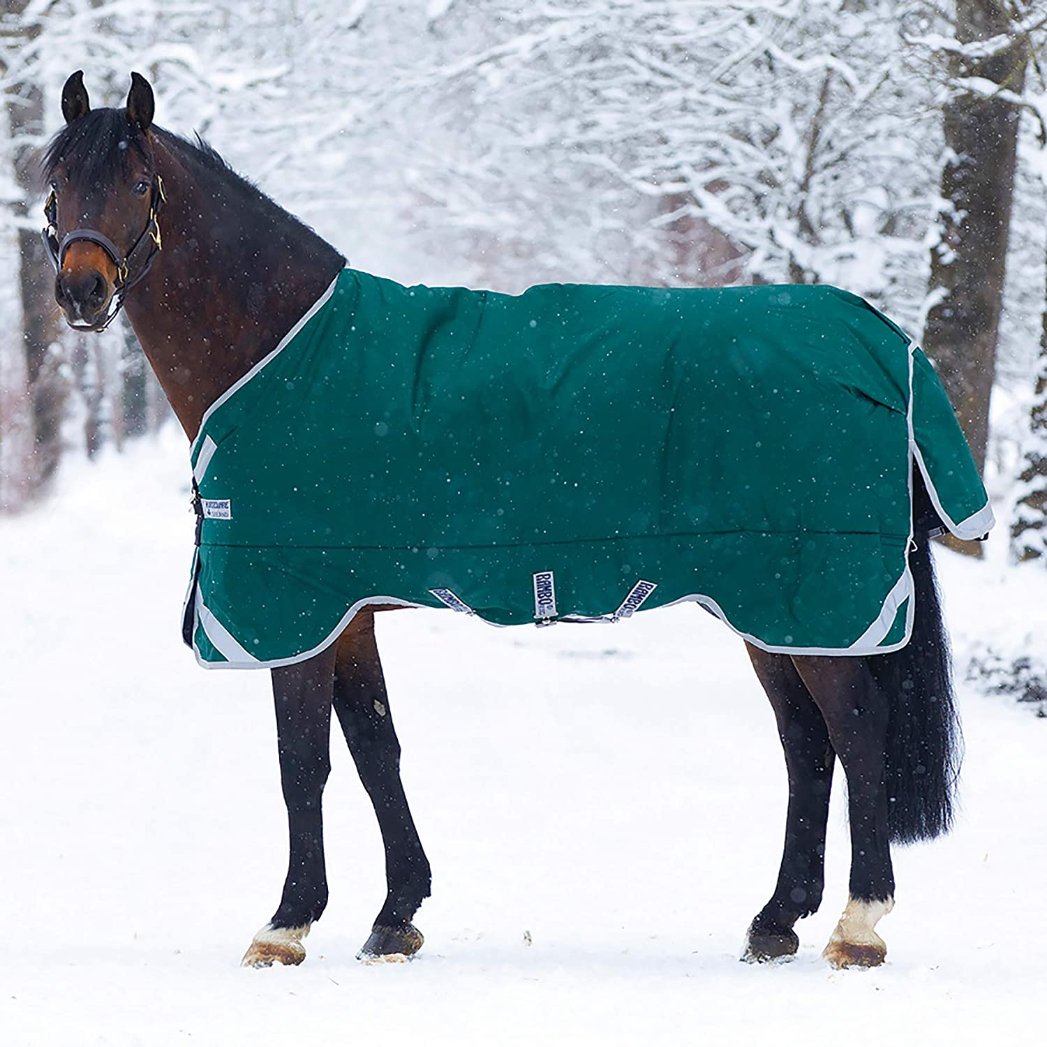 Horseware Ramboo Original Leg Arch 400G Heavyweight Blanket Green//Silver 81