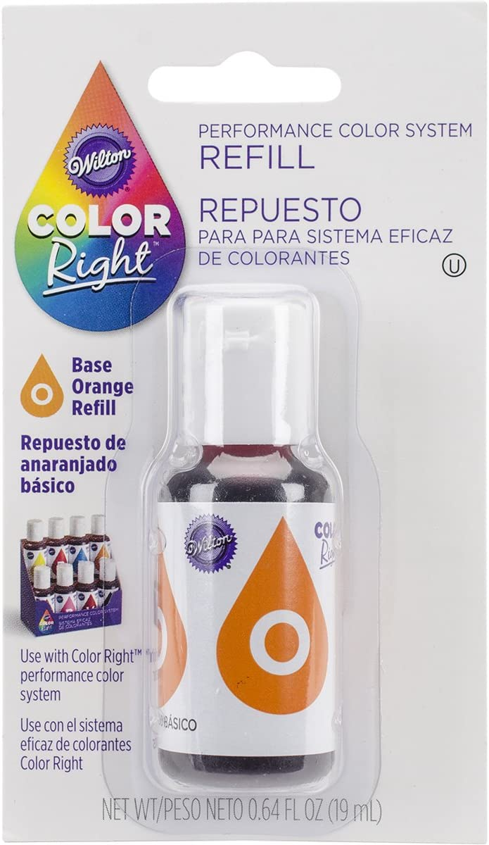 Wilton Right Food Color System Refill, .07 oz, Orange