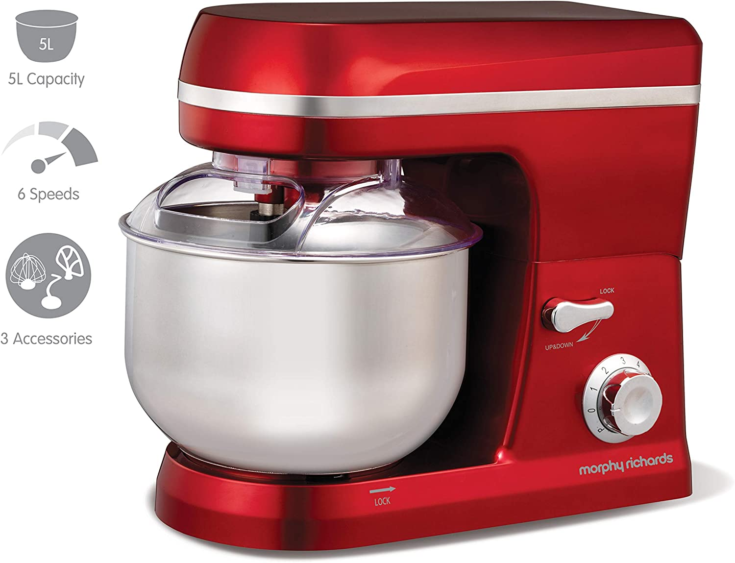 Morphy Richards Accents Red Stand Mixer
