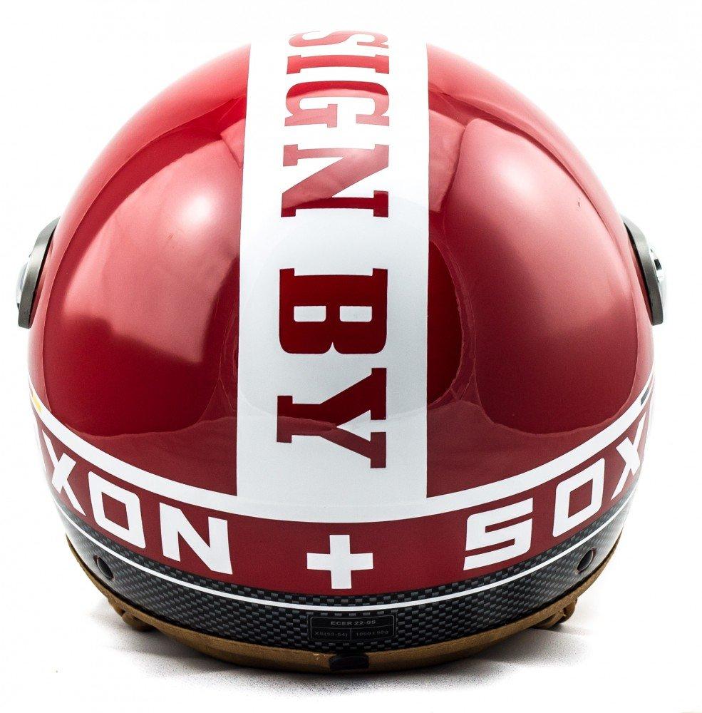 SOXON SP-325-PLUS Titanium /· Scooter-Helmet Vespa-Helmet Bobber Retro Cruiser Biker Jet-Helmet Mofa Moto-Helmet Vintage Chopper Pilot /· ECE certified /· incl Cloth Bag /· Grey /· S Sun Visor /· incl 55-56cm