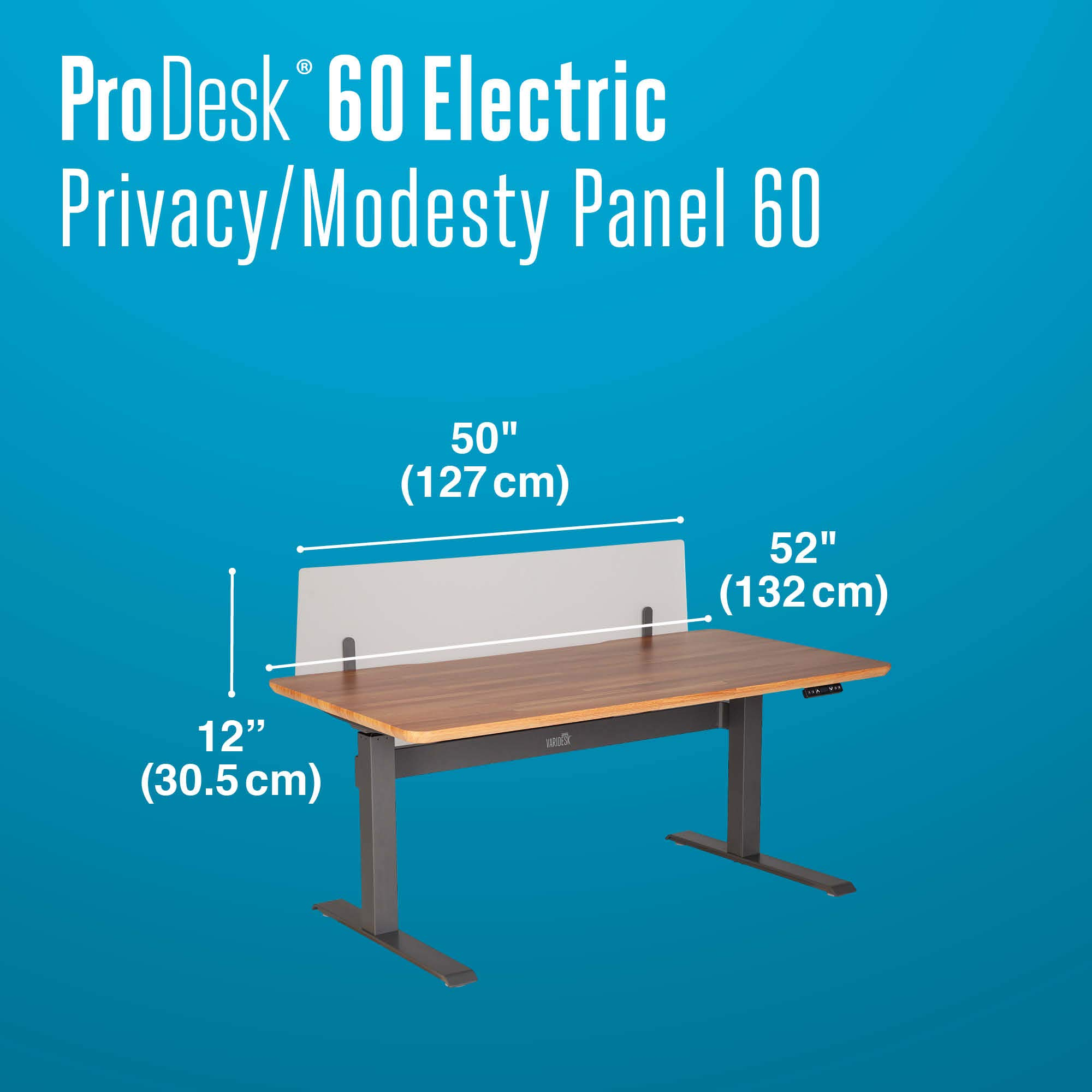 VARIDESK - ProDesk Electric Privacy and Modesty Panel 60 - Office Partition by VARIDESK (Image #9)