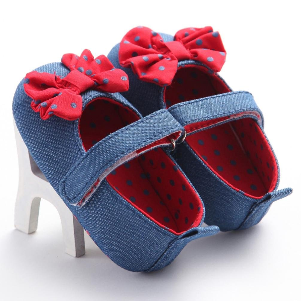 Womail Baby Girl Shoes Infant Denim Princess Soft Crib Tassel Toddler Kids