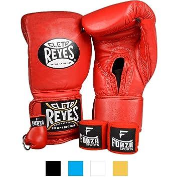 Cleto Reyes - Guantes de Boxeo con Velcro y Llavero, 16 oz ...