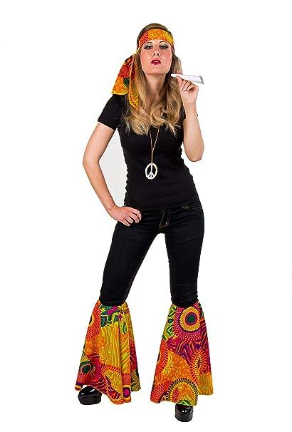 ad3d3e111b165 Karneval Zubehör Set Hippie zum 70er Jahre Kostüm zu Fasching, das Dessin  kann vom Bild abweichen