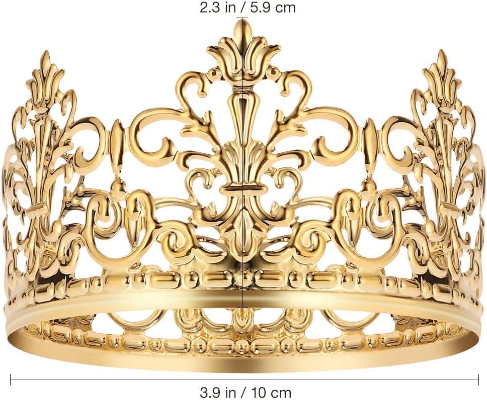 Crown Happy Birthday Cake Topper Golden Birthday Party Decoration Prince Princess Cake Decoration