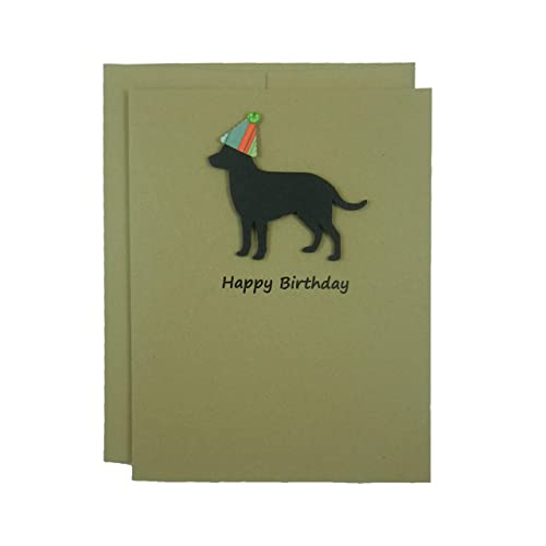 Amazon Black Labrador Retriever Birthday Card Handmade Black