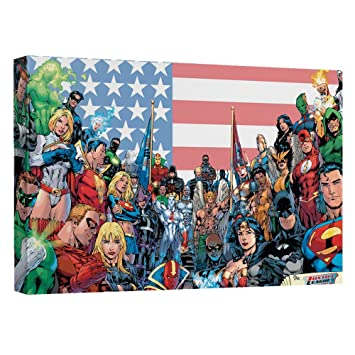 Amazon.com: Justice League Canvas Wall Art | The League (8\