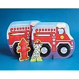 Firefighter 13 1/2in Centerpiece 3ct